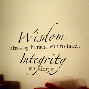 ... -Integrity-Quote-Removable-Vinyl-Decal-Wall-Sticker-Art-Home-Decor