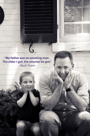 Father and Son Quote – Mark Twain