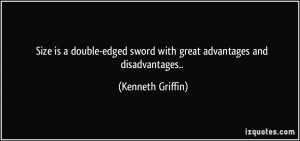 Size is a double-edged sword with great advantages and disadvantages ...