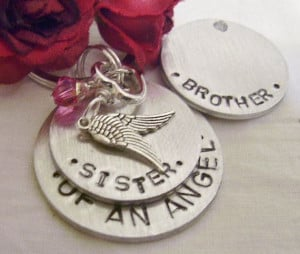 Sister or brother hand stamped memorial key by glamgirlspretties, $18 ...
