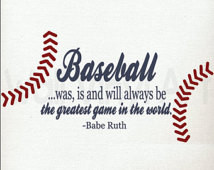 Babe Ruth, Baseball Quote. Vinyl De cal- Children's decor, Sports ...