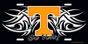 Tribal Tennessee Vols License Plate, Tribal Tennessee Vols License Tag