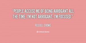 Quotes About Being Arrogant