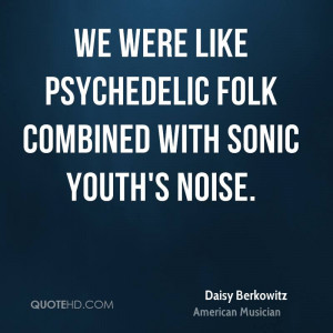We were like psychedelic folk combined with Sonic Youth's noise.