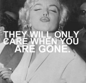 Sad but true RIP Marilyn Monroe♥