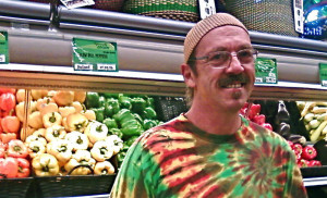 ... is wearing his produce camouflage shirt today. | Willy Street Co-op
