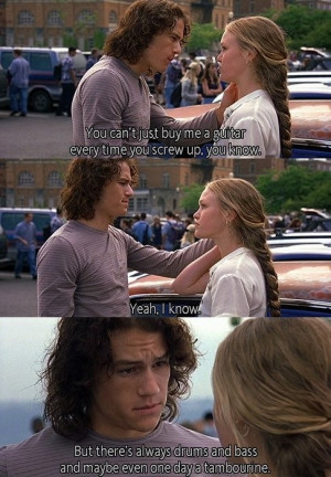 heath ledger, julia stiles, quote, true love