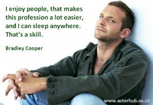 Inspirational and Motivational Quote from Actor Bradley Cooper