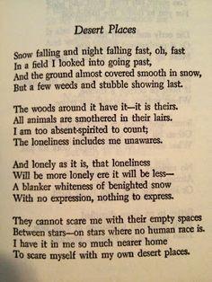Winter Poems Robert Frost Robert frost poetry