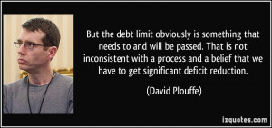 But the debt limit obviously is something that needs to and will be ...