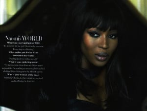 Naomi Campbell and me