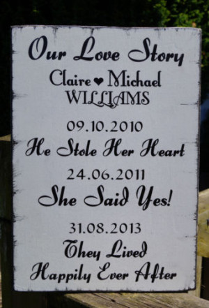 our love story £ 13 99 vintage style wedding our love story sign ...