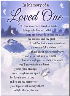 Anniversary of Loved Ones Death | Death Anniversary Quotes More