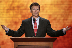 Sen. Rand Paul, R-Ky., addresses the Republican National Convention in ...