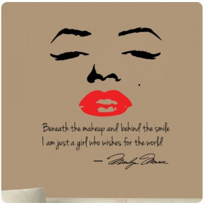 ... Decal Decor Quote Face Red Lips Large Nice Sticker from Value Decals