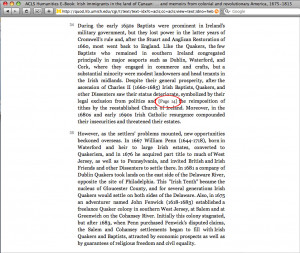 Figure 7: Example of a print page number in an XML title (see circled ...