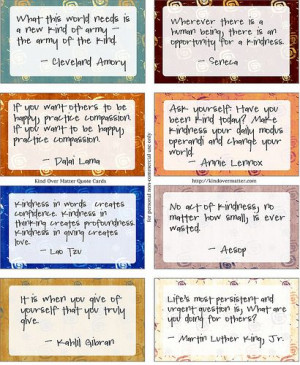Kindness Quotes - printable