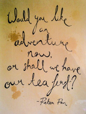 ... parlor. PETER PAN handwritten quote print by ChildAtHeartArt on Etsy