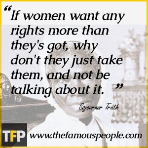 quotes from sojourner truth