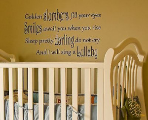 Beatles Quote Wall Decal lullaby slumber removable sticker nursery ...
