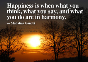 happiness quotes by Gandhi