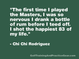 Golf Quote The More I Practice The Luckier I Get