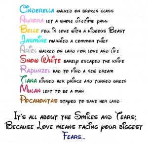 Disney Princess Disney Princess Love Quote