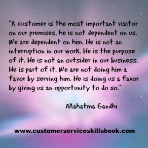 Definition of a Customer – Quote by Mahatma Gandhi