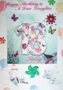 ... Personalised 18th Birthday Card for Daughter, Granddaughter, Niece, Fr