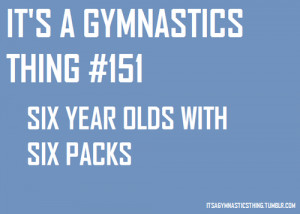 It's a gymnastics thing) Six year olds with six packs