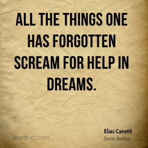 Elias Canetti Dreams Quotes