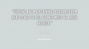 Funding and maintaining programs from Head Start to Pell Grants must ...