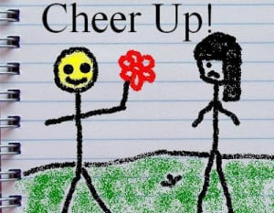 Cheer Up myspace profile comment sketch
