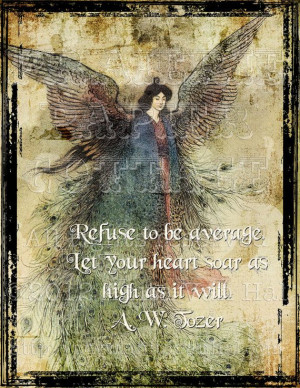 distressed print features a vintage fairy and the inspirational quote ...