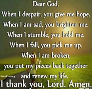 Dear God...