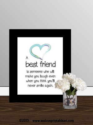 You are here: Home › Quotes › Gift for Best Friend Quote Printable ...