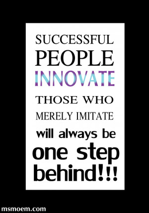 innovate-not-imitate