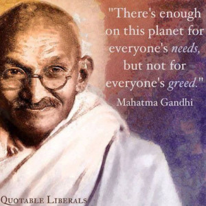 Gandhi. A vegetarian, a peace-lover, a fighter for social justice ...