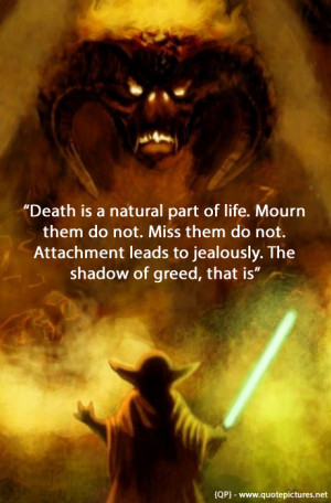 Yoda – Death is a natural part of life