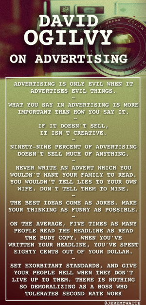 David Ogilvy on #Advertising