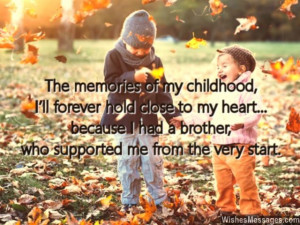 Cute Brother And Sister Relationship Quotes Cute message to brother ...
