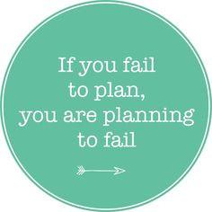 Motivational Monday: Plan Ahead