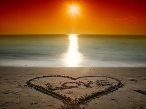 Beach Love Sunset - the sand love sunset at beach - Beach Love Sunset