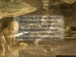 Gollum's fifth riddle for Bilbo, The Hobbit, Riddles in the Dark