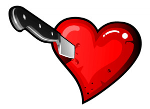 Stabbed In The Heart Drawing Stabbing heart with knife