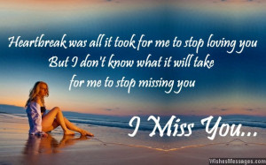 miss you messages for ex-boyfriend | WishesMessages.