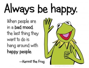 ... for this image include: always, happy, kermit the frog, life and love