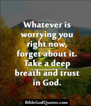 Stop worrying and trust God https://www.facebook.com/photo.php?fbid ...