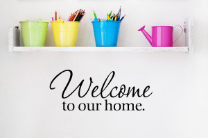 ... about Welcome to Our Home Wall Decal Quote Wall Sticker Wall Quote