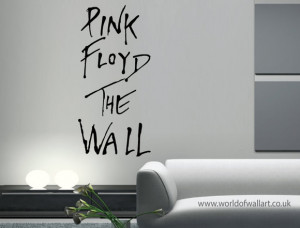 Pink Floyd The Wall Art Sticker, large quote transfer, big decal